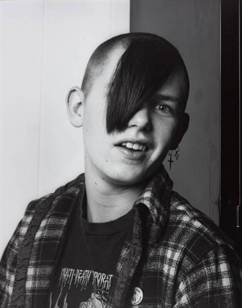 Tattoo Artist's Son 1984 Robert Mapplethorpe 1946-1989 ARTIST ROOMS Acquired jointly with the National Galleries of Scotland through The d'Offay Donation with assistance from the National Heritage Memorial Fund and the Art Fund 2008 http://www.tate.org.uk/art/work/AR00190