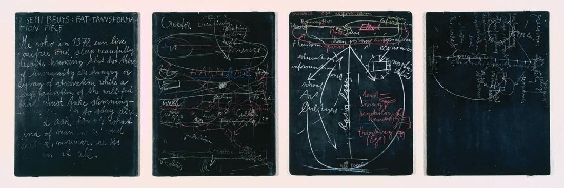 Four Blackboards 1972 by Joseph Beuys 1921-1986