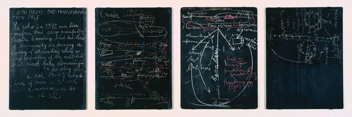 Four Blackboards 1972 by Joseph Beuys 1921-1986